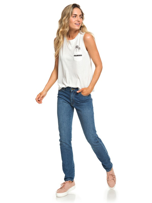 0 Cosy Wildness - Straight Fit Jeans for Women Blue ERJDP03212 Roxy