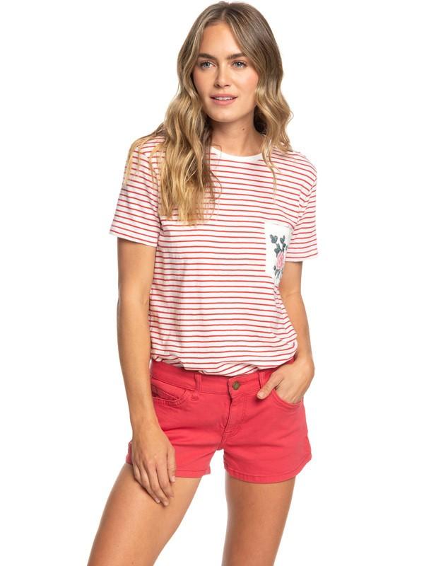 0 Minimal Mood - Short en denim pour Femme Rouge ERJDS03193 Roxy
