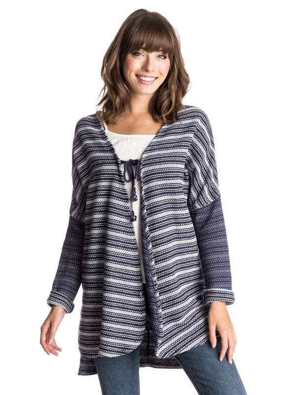 0 Caloundra - Sweatshirt avec noeud sur le devant Bleu ERJFT03213 Roxy