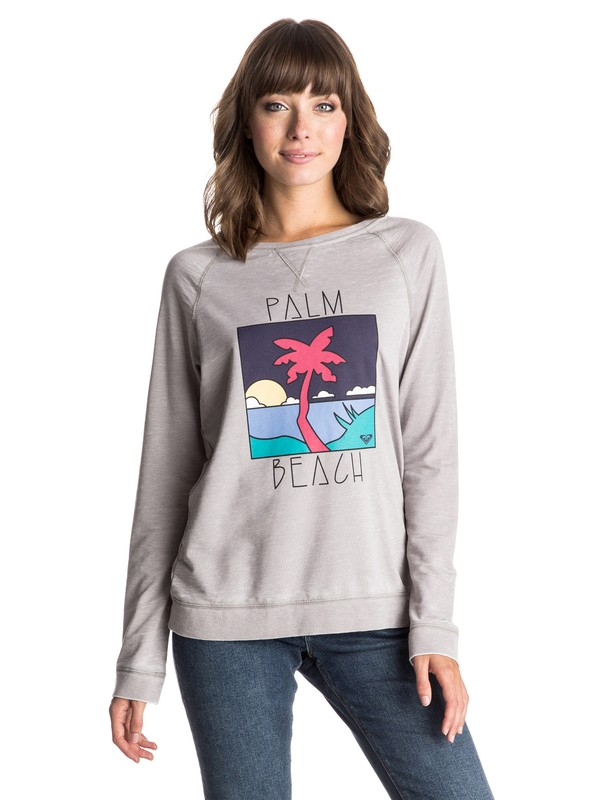 0 Ray Of Light Palm Beach Pullover Sweatshirt  ERJFT03271 Roxy