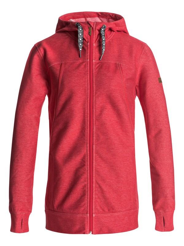 0 Frost - Sudadera con capucha y cremallera para Mujer Rojo ERJFT03555 Roxy