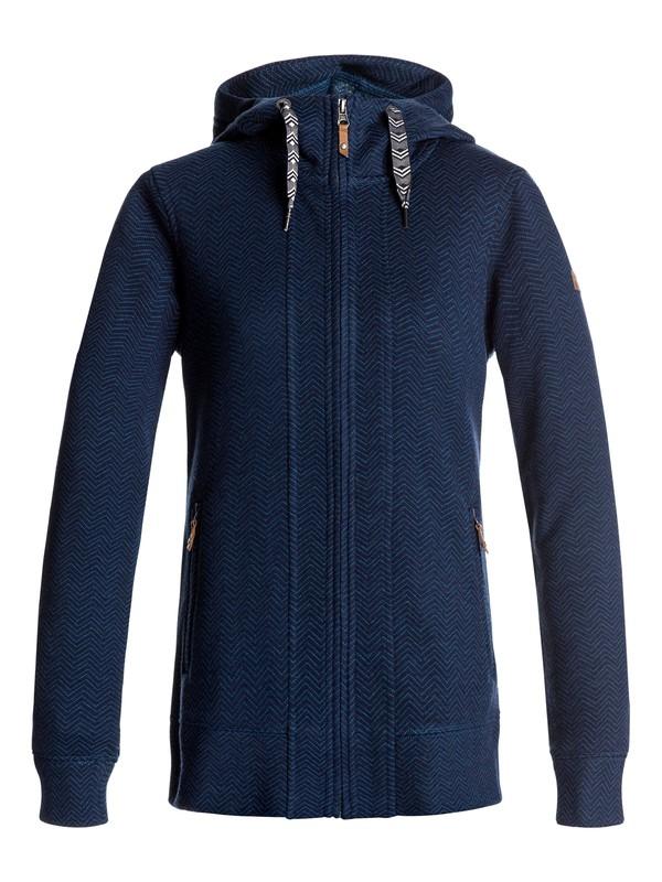 0 Doe - Sudadera con capucha y cremallera para Mujer Azul ERJFT03556 Roxy