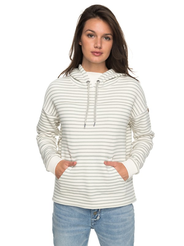 0 Greatest Glory Stripe - Sweat à capuche pour Femme Blanc ERJFT03682 Roxy