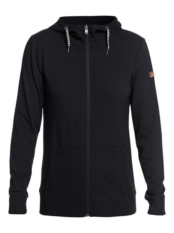 0 Delta - Sweat à capuche technique zippé pour Femme Noir ERJFT03738 Roxy