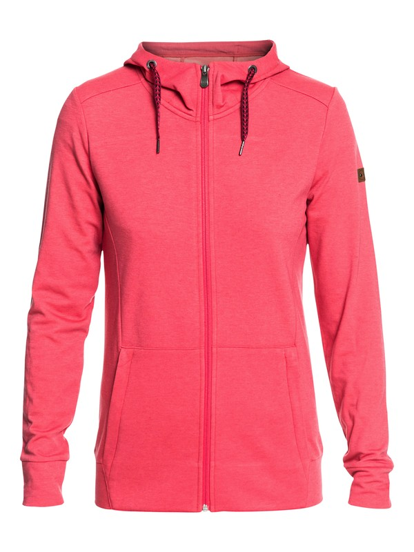 0 Delta - Sweat à capuche technique zippé pour Femme Rose ERJFT03738 Roxy