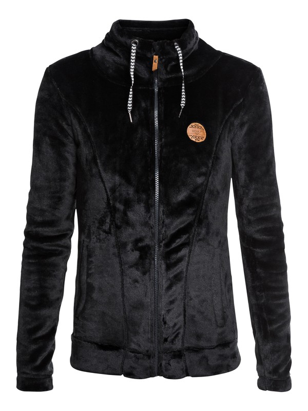 0 Eskimo - Technical Zip-Up Fleece for Women Black ERJFT03739 Roxy