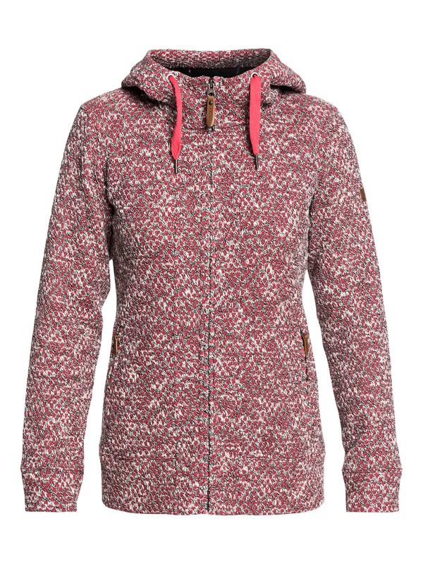 0 Doe - Sudadera de diseño técnico con capucha y cremallera para Mujer Rosa ERJFT03744 Roxy