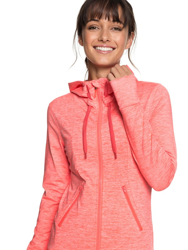 0 Every Little Things - Zip-Up Hoodie for Women Red ERJFT03792 Roxy
