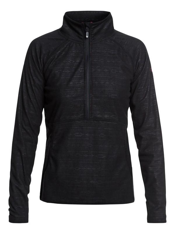 0 Cascade Technical Half-Zip Fleece Black ERJFT03855 Roxy