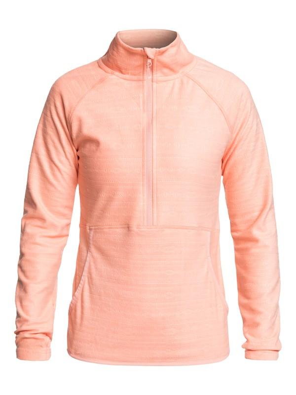 0 Cascade - Polar técnico con media cremallera para Mujer Rosa ERJFT03855 Roxy