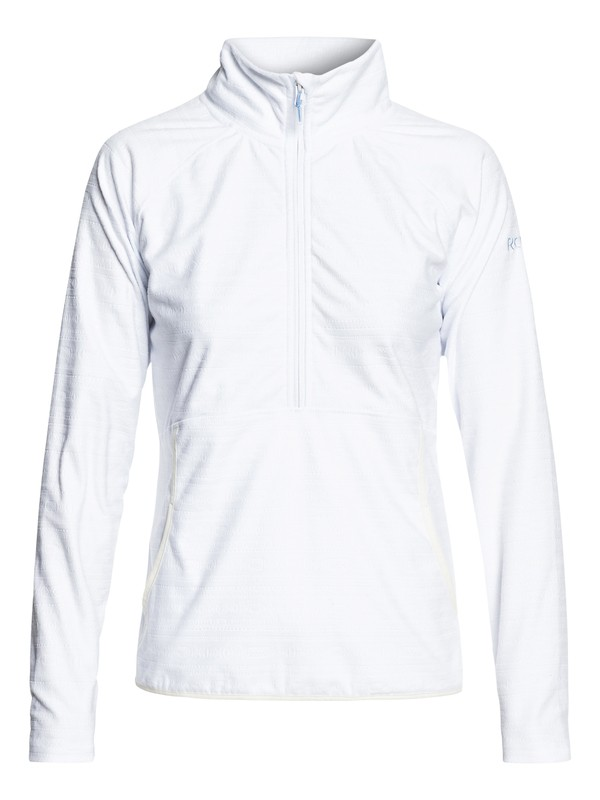 0 Cascade Technical Half-Zip Fleece White ERJFT03855 Roxy