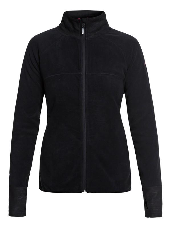 0 Harmony Technical Zip-Up Fleece Black ERJFT03857 Roxy
