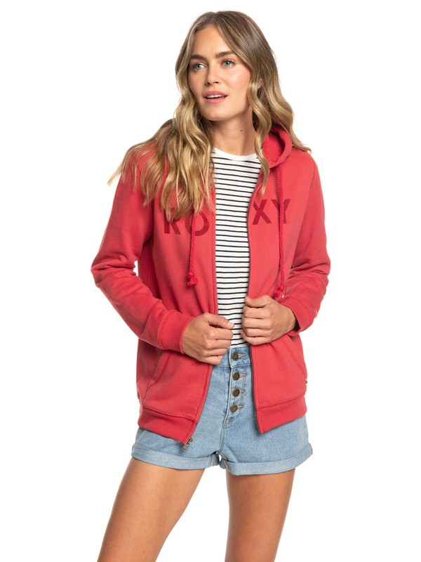 0 Cosmic Nights - Sweat à capuche zippé pour Femme Rouge ERJFT03923 Roxy