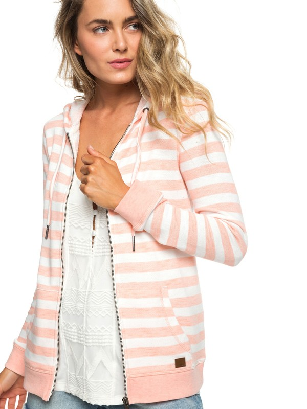 0 Trippin - Sweat à capuche zippé pour Femme Rose ERJFT03934 Roxy