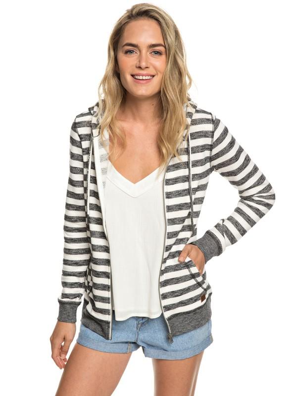 0 Trippin - Sweat à capuche zippé pour Femme Blanc ERJFT03934 Roxy