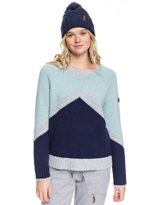 0 Cozy Sound Technical Sweater Blue ERJFT03965 Roxy