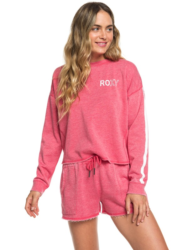 0 Dream Believer C Cropped Sweatshirt Pink ERJFT04006 Roxy