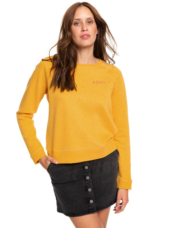 0 Stay Together Sweatshirt Yellow ERJFT04066 Roxy