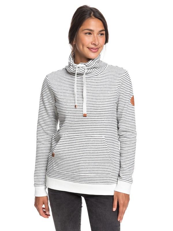 0 Worlds Away Funnel Neck Sweatshirt Black ERJFT04071 Roxy
