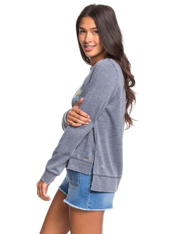 0 Want To Dance Sweatshirt Blue ERJFT04129 Roxy
