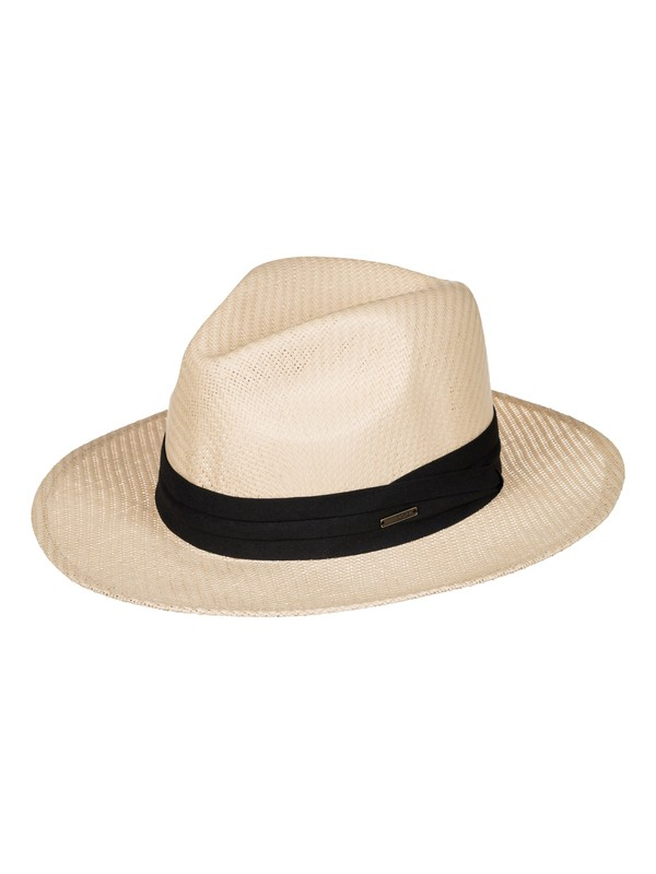 0 Here We Go Straw Panama Hat  ERJHA03157 Roxy