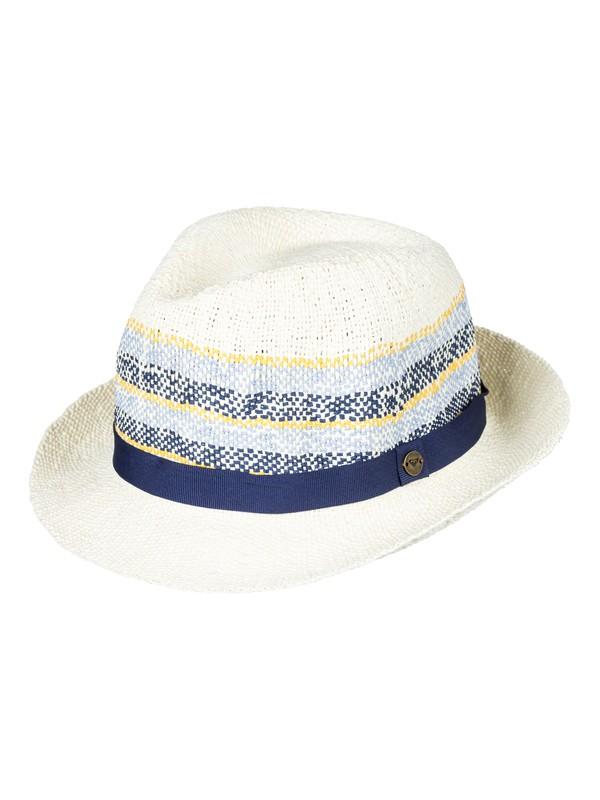 0 Sentimiento - Chapeau de paille style fedora pour Femme Jaune ERJHA03379 Roxy