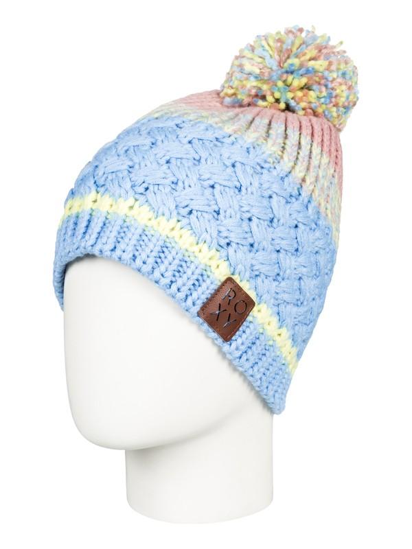 0 Hailey - Bonnet avec pompon pour Femme Bleu ERJHA03410 Roxy