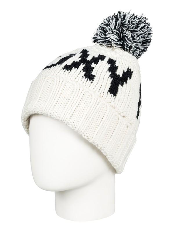 0 Tonic - Bonnet avec pompon pour Femme Blanc ERJHA03411 Roxy