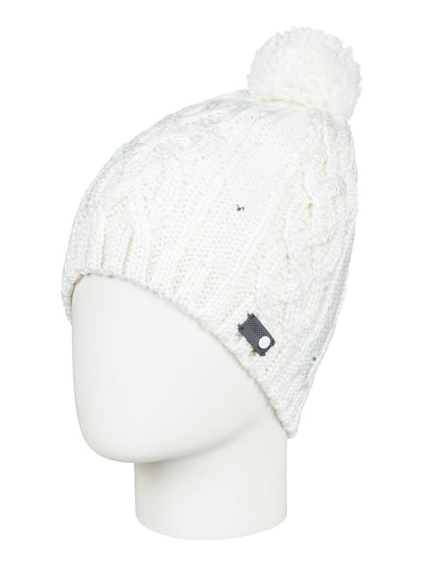 0 Shooting Star - Bonnet avec pompon pour Femme Blanc ERJHA03415 Roxy