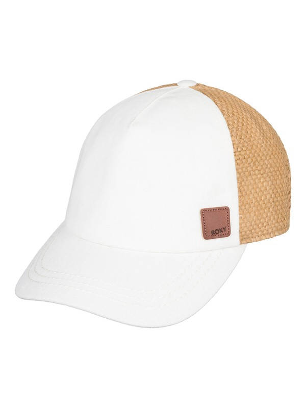 0 Incognito Straw Back Trucker Hat White ERJHA03438 Roxy