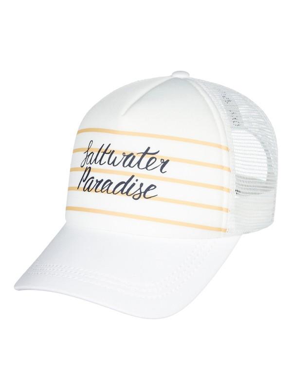 0 Truckin Color Trucker Hat White ERJHA03460 Roxy