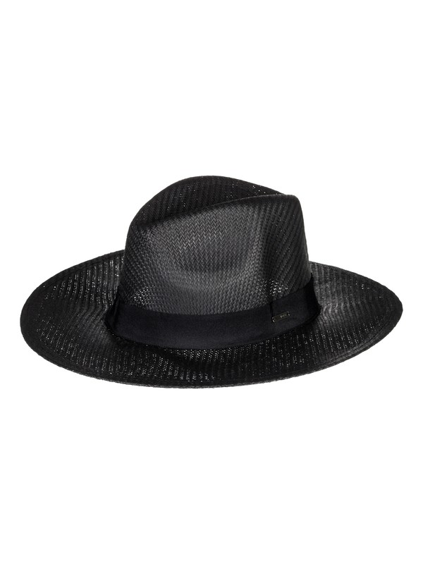 0 Here We Go Straw Sun Hat Black ERJHA03468 Roxy
