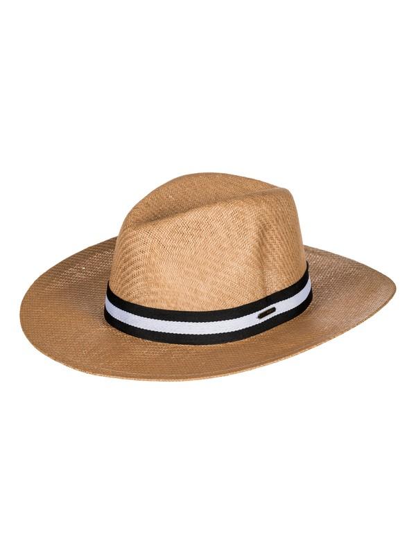 0 Sombrero de sol de rafia Here We Go Amarillo ERJHA03468 Roxy