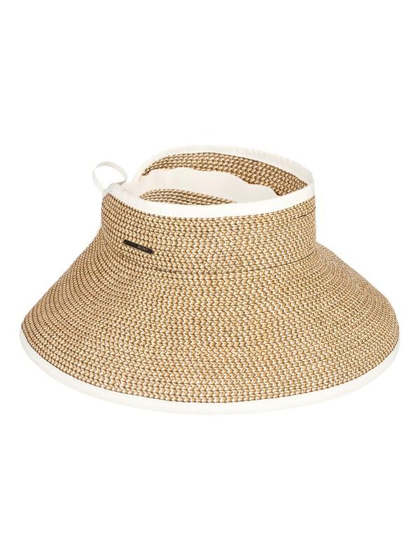 0 Kiss The Ocean Capeline Straw Hat White ERJHA03495 Roxy