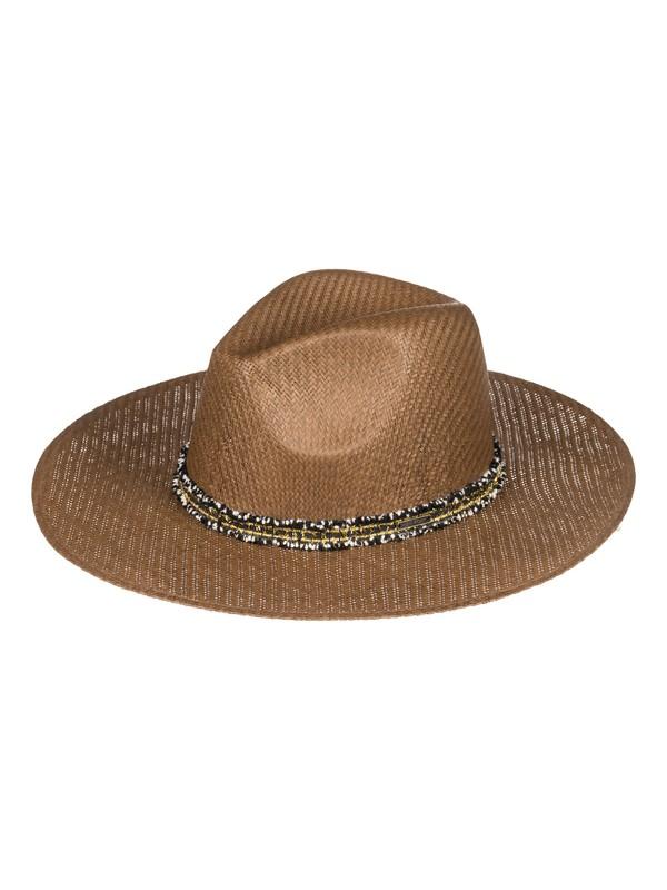 0 Here We Go - Sombrero Protector de Paja para Mujer Marron ERJHA03526 Roxy