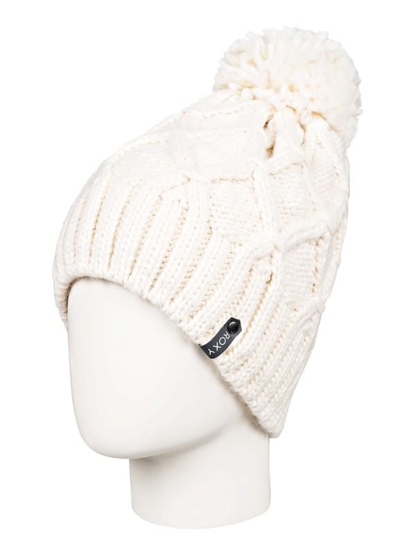0 Winter Pom-Pom Beanie White ERJHA03556 Roxy