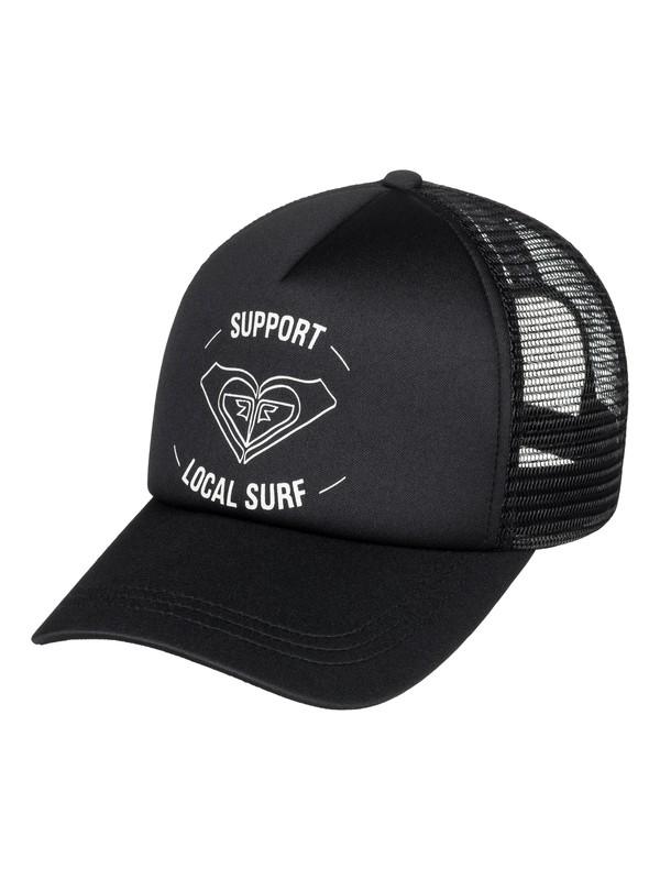 0 Truckin Color Trucker Hat Black ERJHA03574 Roxy