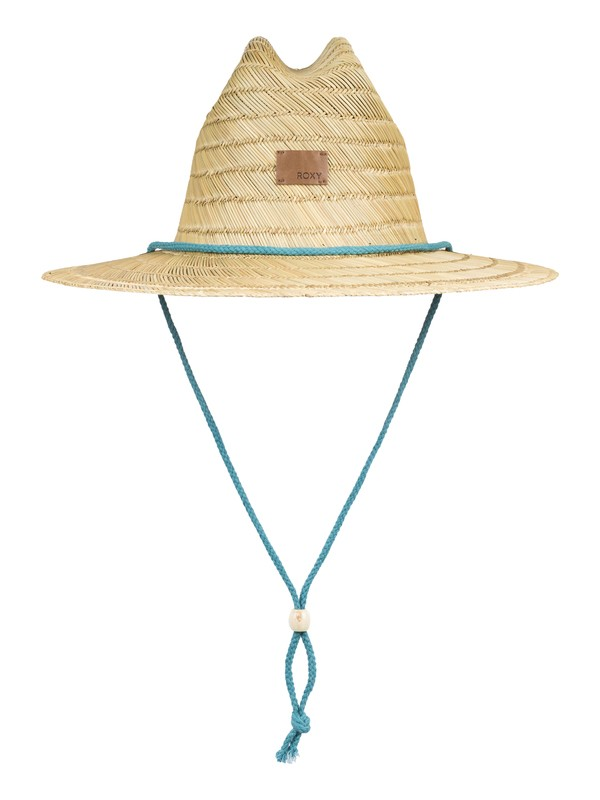 0 Pretty Smiles Straw Sun Hat Blue ERJHA03592 Roxy