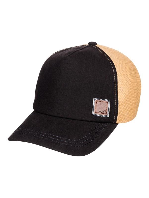 0 Incognito Straw Trucker Hat Black ERJHA03614 Roxy