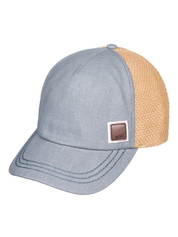 0 Incognito Straw Trucker Hat White ERJHA03614 Roxy