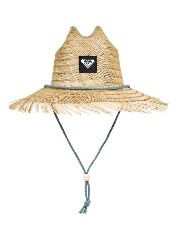 0 Tomboy Straw Lifeguard Hat Blue ERJHA03619 Roxy