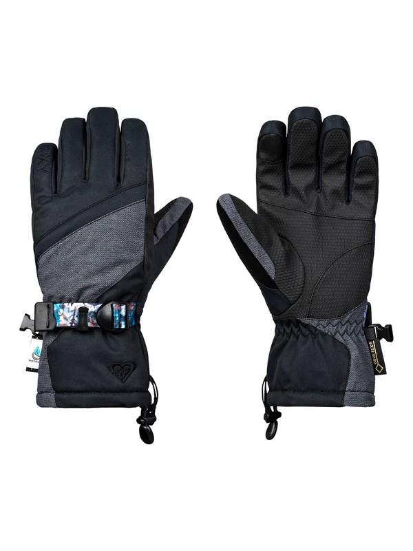 0 Crystal Gore-Tex  - Gants de ski/snowboard pour Femme Noir ERJHN03092 Roxy