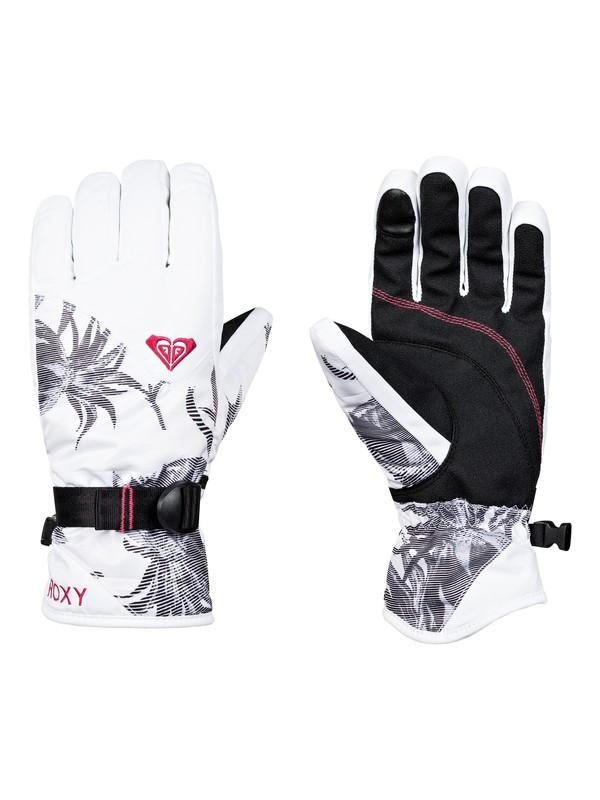 0 ROXY Jetty - Ski/Snowboard Gloves for Women White ERJHN03097 Roxy
