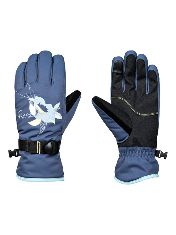 0 Freshfield - Ski/Snowboard Gloves for Women Blue ERJHN03099 Roxy