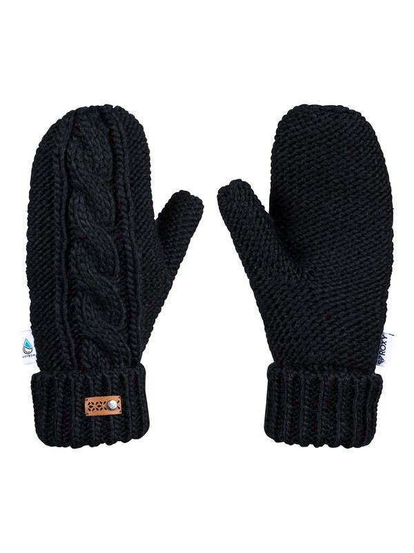 0 Winter Mittens Black ERJHN03112 Roxy