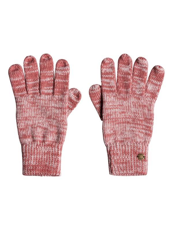 0 Let It Snow - Guanti a maglia da Donna Pink ERJHN03120 Roxy