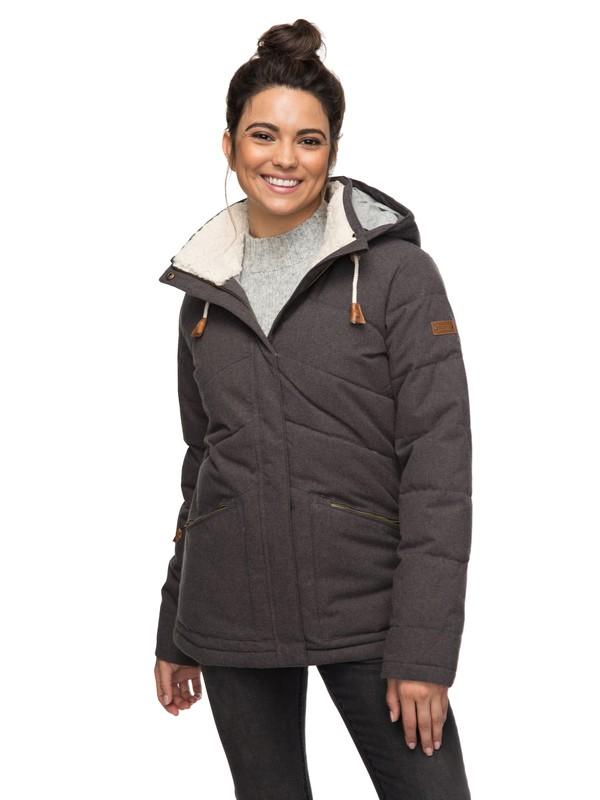 0 Nancy - Waterproof Hooded Insulator Jacket for Women Black ERJJK03187 Roxy
