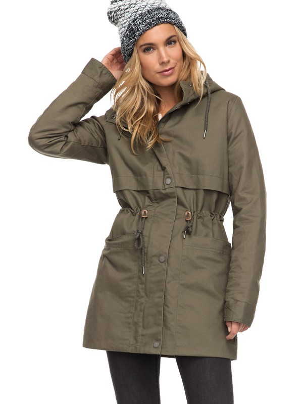 0 Sea Dance - Water Repellent Parka for Women Green ERJJK03199 Roxy