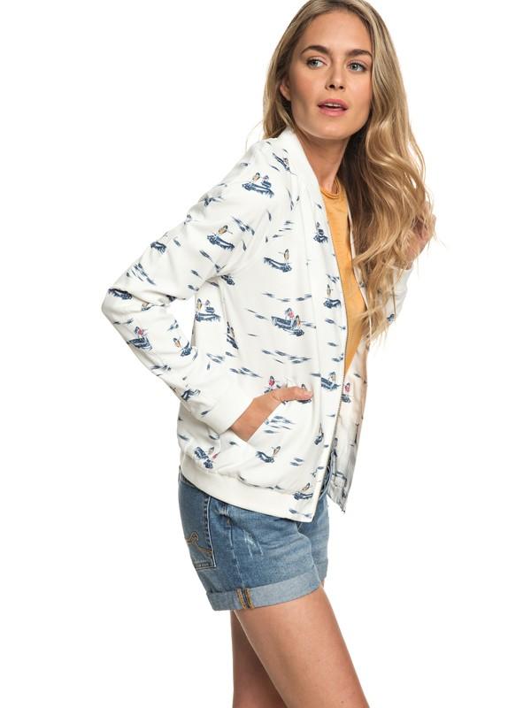 0 Waterfall Sun - Bomber Jacket Sweatshirt for Women White ERJJK03220 Roxy