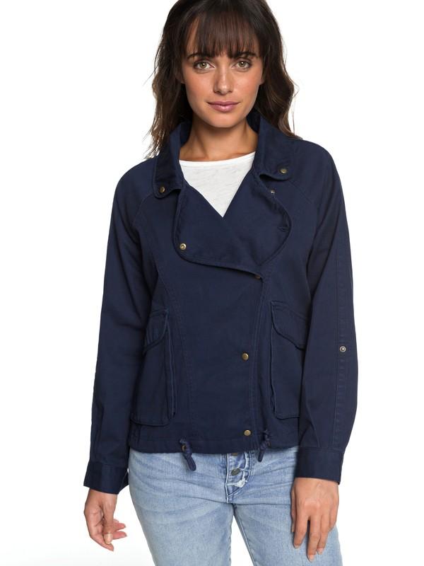 0 Perfect Spot - Military Jacke für Frauen Blau ERJJK03225 Roxy